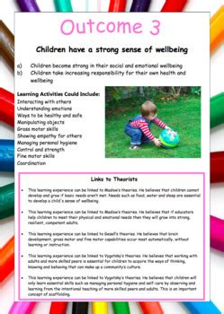 eylf posters  outcomes activities  links
