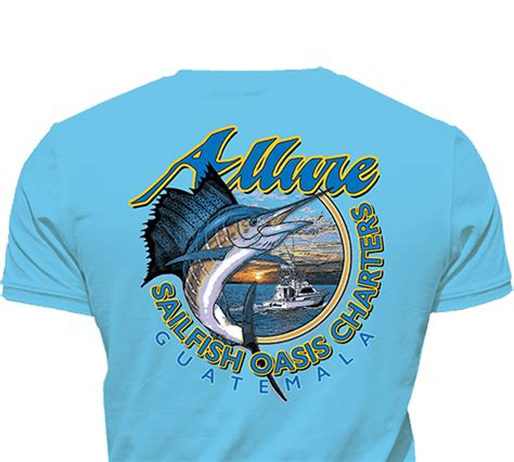 Sailfish Boats Shirts by Authentic Fishing Shirts From Around The World