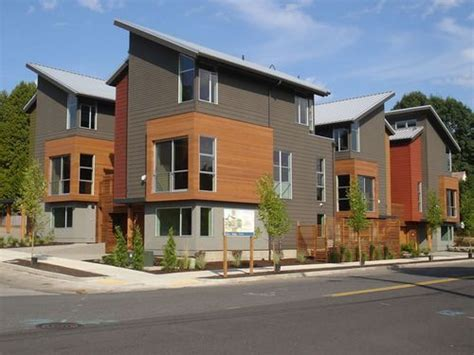 diversity  materials interesting roof lines eightx exterior contemporary townhomes