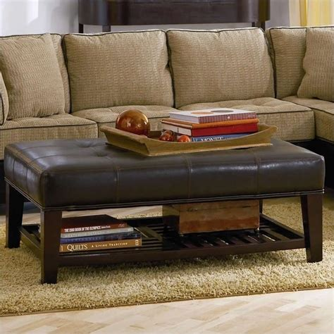 Coaster Contemporary Faux Leather Tufted Ottoman With