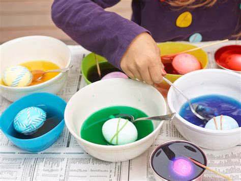 dying easter eggs with food coloring how to dye easter eggs real simple