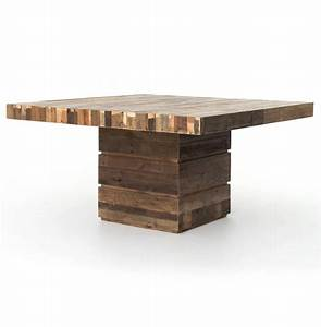 Hunter Rustic Lodge Chunky Reclaimed Wood Square Dining