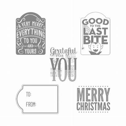 Stamp Stampin Merry Everything Bite Tag Last