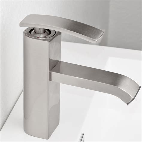 bathroom faucet brushed nickel ouli m11001 081b