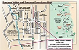 Map of Sonoma Downtown and Sonoma Valley