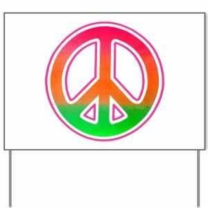 Neon Peace Hoo bright 60s hippie love retro sign