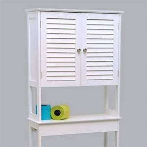 Meuble De Rangement Wc : meuble dessus wc florence blanc dessus wc eminza ~ Teatrodelosmanantiales.com Idées de Décoration