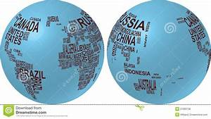World Map With Country Name Royalty Free Stock Photos ...