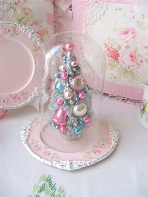 cute mini tree  pastel vintage ornaments pictures