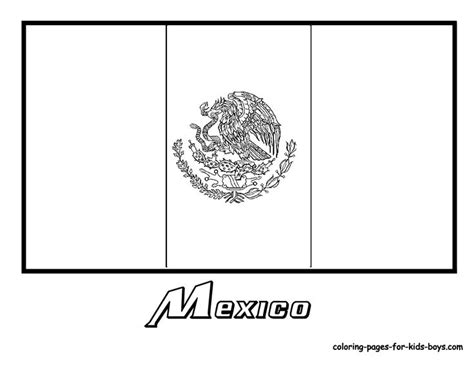 mexico flag coloring pages kids culture class