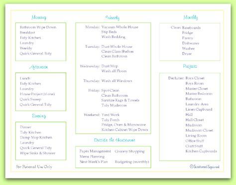 Free Home Keeping Checklist Printable