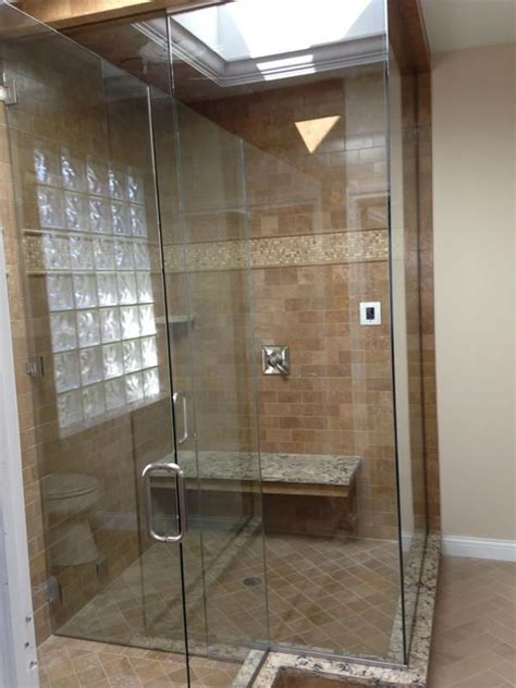 steam showers ad glass mirror
