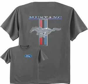 Ford Mustang t-shirt front and back design Men's tee shirt charcoal gray ford | eBay