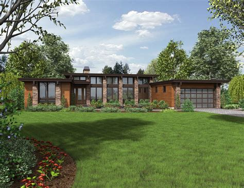 One Story Modern House Plans by Modern One Story House Plan