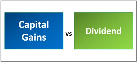 capital gains  dividend top  differences