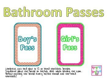 Bathroom Pass Ideas For Kindergarten by 17 Best Images About 1 Kindergarten Back To School On