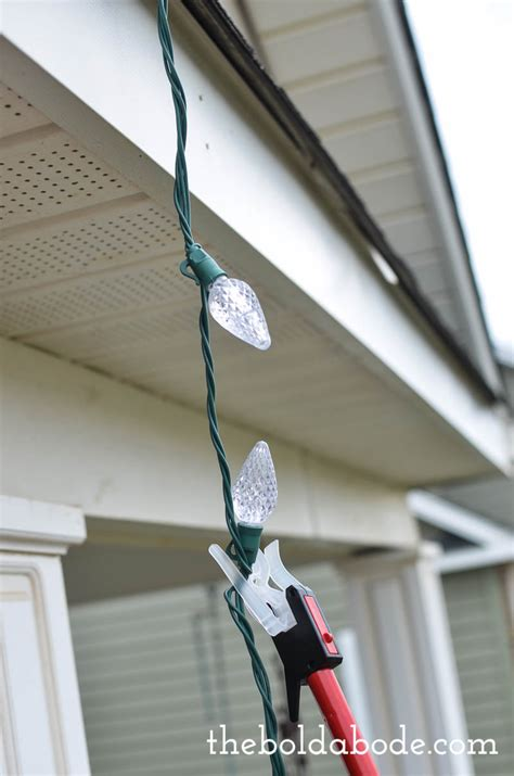 how to hang lights without a ladder