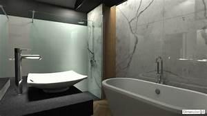 dimension h salle de bains avec habillage mural en marbre With habillage mural salle de bain