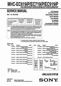 Sony Mhc-ec719ip  Mhc-ec919ip Service Manual