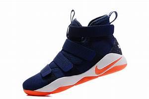 2017 Nike LeBron Soldier 11 Deep Blue Orange For Sale ...