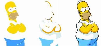 Photoshop Simpson Homer Vectorial Dibujo Ilustraciones Crear