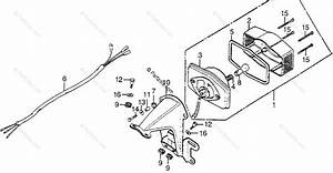 Honda Motorcycle 1977 Oem Parts Diagram For Taillight