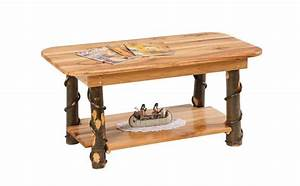 hickory wood coffee table With rustic cabin coffee table