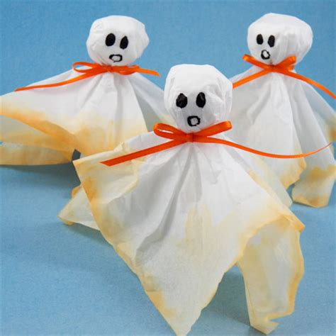 colorful tissue ghosts halloween crafts