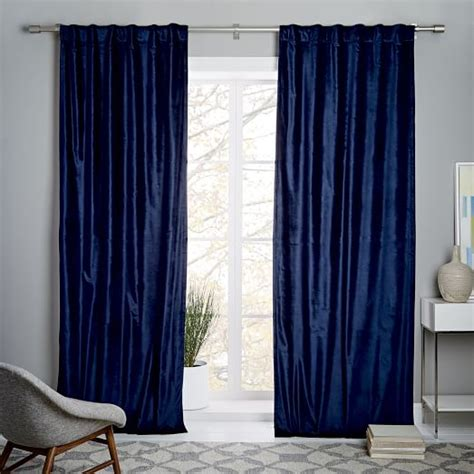 west elm velvet curtains cotton luster velvet curtain nightshade west elm