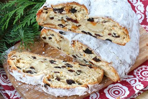 Old polish traditions in the kitchen and at the table. german stollen recipe marzipan