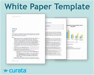 tools white paper template curata With marketing white paper template
