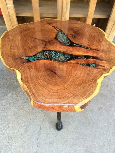 epoxy filled wood slab table woodworking   wood