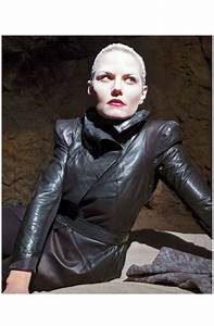 Once Upon A Time Season 6 Swan Black Leather Jacket