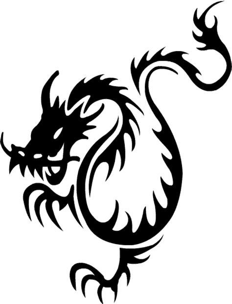 black tribal dragon tattoos tribal tattoos design