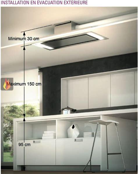 cuisine molteni hotte de plafond avec éclairage par leds de 100cm de