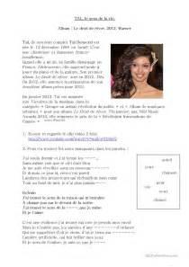 Le Sens De La Vie Tal by Chanson Quot Le Sens De La Vie Quot Tal Fiche D Exercices Fiches