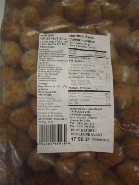 tfi cuisine certain seafood products recalled due to undeclared egg