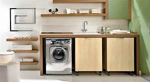 lave linge dans salle de bain meuble pour cacher machine a With meuble salle de bain integrant machine a laver