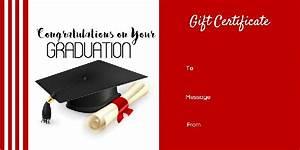 graduation gift certificate templates free printable