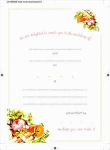 Wedding Invitation Printable Templates 10 Ms Word Birthday Party Invitation Template