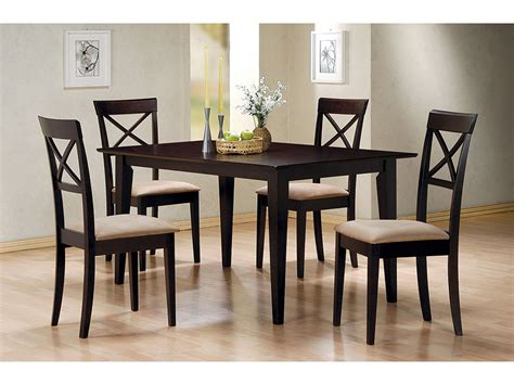 cross back chair dining room table cappuccino dining table cross back chair set shop for