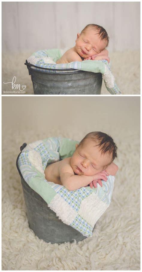 newborn  bucket newborn boy pose newborn photography