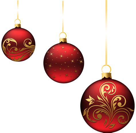 christmas red balls ornaments png picture projekty na