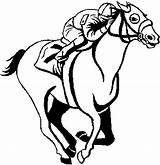 Horse Coloring Racing Clipart Race Horses Printable Clip Drawing Racehorse Stencils Track Template Cliparts Sea Sheets Sketch Clipartmag Getdrawings Popular sketch template