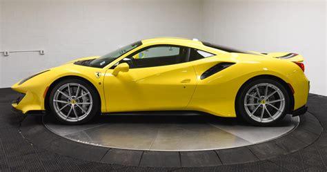 Beautiful golden yellow ferrari 488 pista pista is italian for racetrack 710 hp 3 9 l twin turbo v8 568 lb ft 7 speed dual clutch 0 62 mph 2 85 sec 0 124 mph 7 6 sec top track speed 211 mph. What's A 2019 Ferrari 488 Pista Worth To You?   Carscoops