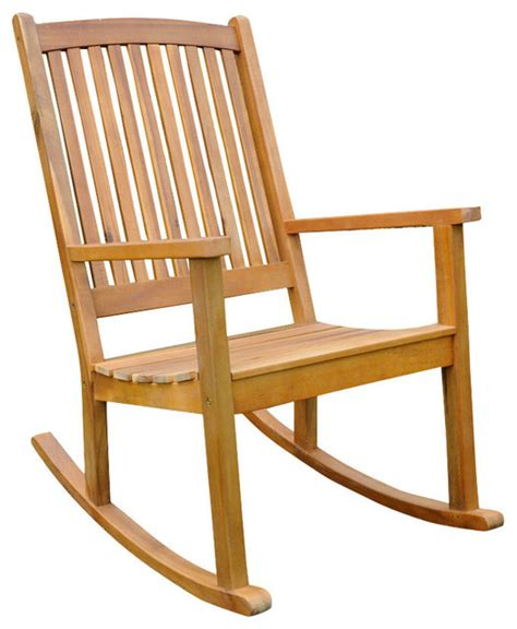acacia large rocking chair traditional outdoor rocking