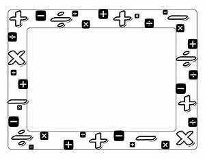 Math Page Border Clip Art (65+)