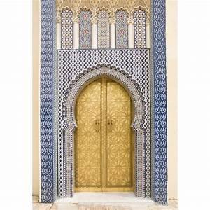 Papier Peint Geant : papier peint g ant porte orientale art d co stickers ~ Premium-room.com Idées de Décoration