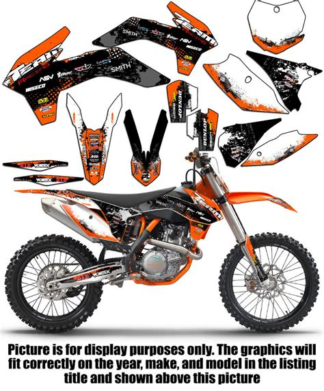kit deco 125 exc 2008 2011 ktm exc xcf 125 250 300 450 530 graphics set kit deco decals 2009 2010 ebay