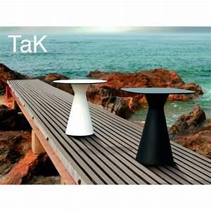 Table Pour Terrasse : table pour terrasse ronde ou carr e tak pi tement plastique plateau compact ~ Teatrodelosmanantiales.com Idées de Décoration